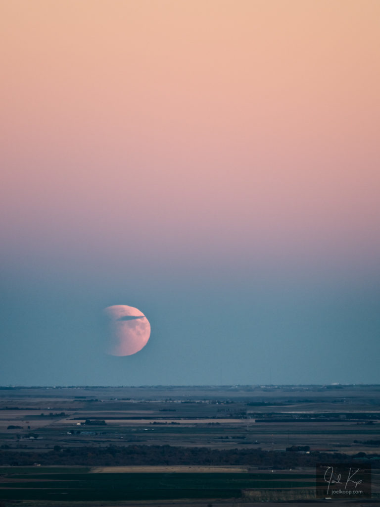 Lunar Eclipse Over the Prairies