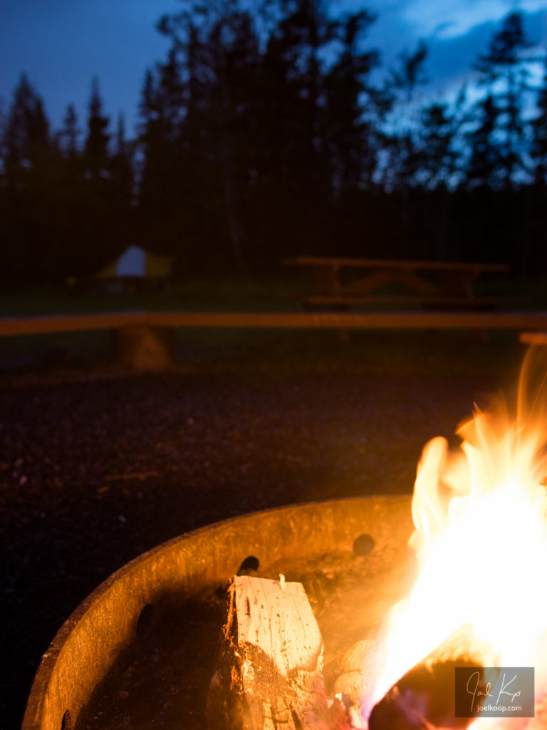 Campfire in Canoe Meadows