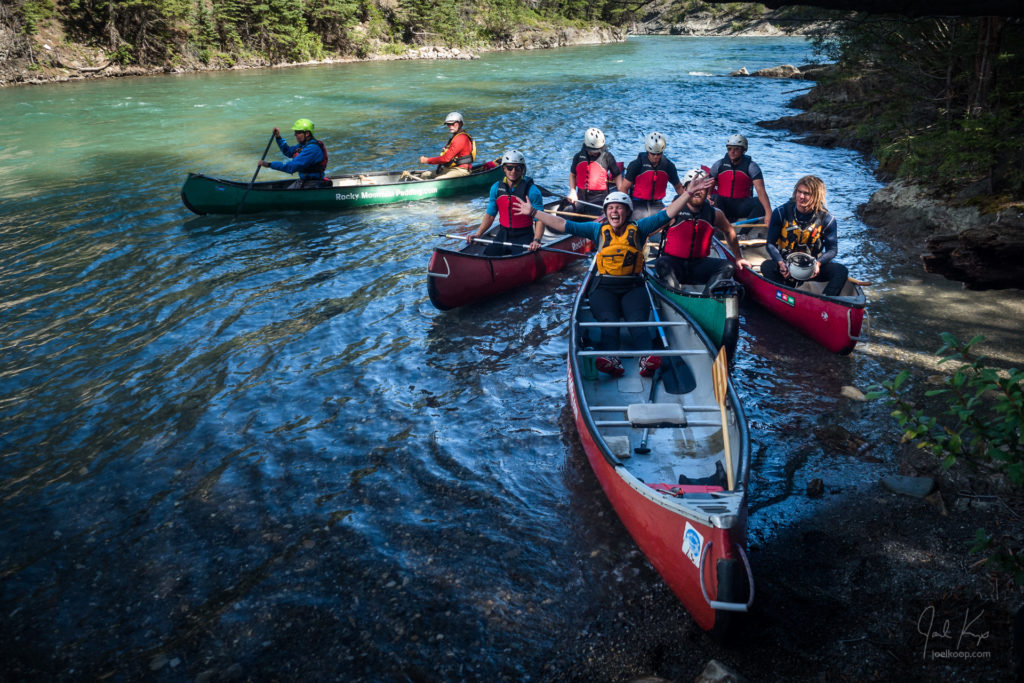 Canoe Course on the Kananaskis River